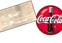 Coca-Colanın gizli formülü bulundu