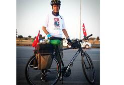 Marmara Bölgesi'ni bisikletle dolaştı