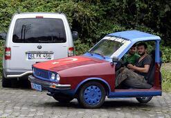 Oflu motor ustaları arabayı ikiye böldü