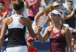 ABD Açık Tenis Turnuvası tek kadınlarda Pliskova ve Kerber finale çıktı