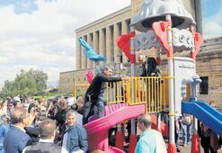 Anıtkabir'deki parkı vatandaş söktü