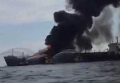 Meksika Körfezinde dev tanker yangını