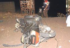 Motosiklet kazasında kask yok, ölüm var