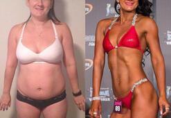 Vücut geliştirmeyle 40 kilo verdi