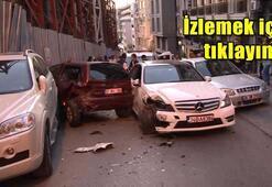 Şişlide polisten kaçan Iraklılar caddeyi savaş alanına çevirdi