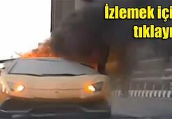 400 bin dolarlık Lamborghini böyle yandı