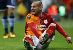 Sneijder kendini yaktı