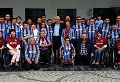 Trabzonspordan engelli taraftarlara anlamlı organizasyon