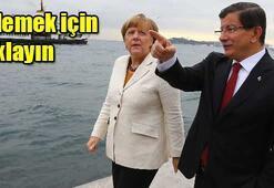 Merkelden Atatürk ve afiş sorusu