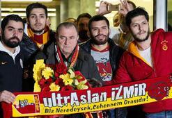 Galatasaray kafilesi İzmirde