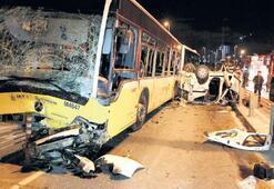 Polisten kaçtı metrobüse çarptı