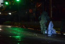 İş merkezi önündeki çuvallar polisi alarma geçirdi