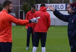 Trabzonsporda barış havası Şota ve Onur şakalaştı