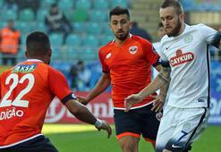 Çaykur Rizespor sahasında Adanaspor ile 2-2 berabere kaldı