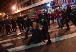 Avrupa Ligi maçı öncesi çıkan olaylarda bir polis hayatını kaybetti