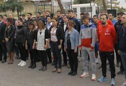 Trabzonsporda Atatürk için saygı duruşunda bulunuldu