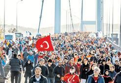 Boğaz'da kırmızı  beyaz maraton