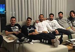 Beşiktaşlı futbolcuların derbi keyfi