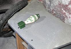 Çöp konteynerinde havan topu mermisi bulundu