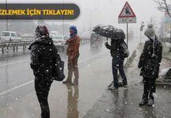 Son dakika: İstanbulda beklenen kar başladı Ekipler harekete geçti...