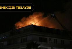 Cavanda ve Belözoğlunun rezidansında yangın çıktı