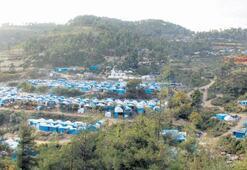 Binlerce Türkmen  çadırkente sığındı