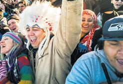 Kızılderililerin   boru hattı 'zaferi'