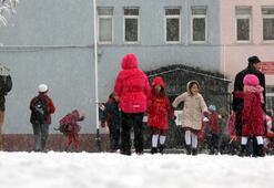 Kar etkisini arttırdı Okullar tatil edildi...