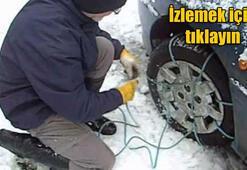 Kar zinciri araba lastiğine nasıl takılır