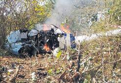 Hindistan'da helikopter kazası