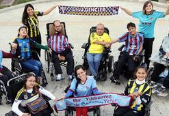 Fenerbahce ve Trabzonsporun engelli taraftarları dostluk mesajı verdi