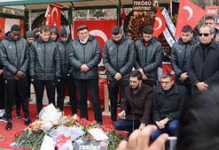 Kayserisporlu futbolcular, şehit askerler için dua etti