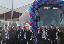 Trabzonspor yeni otobüsünü devraldı