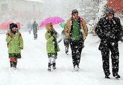 Eğitime kar engeli Bugün hangi illerde okullar tatil