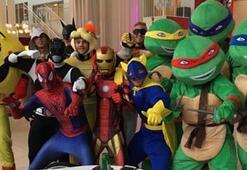 Leicesterlı futbolcular Ninja Kaplumbağa oldular