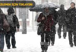 Son 6 yılın en yoğun kar yağışı Pazartesi okullar...