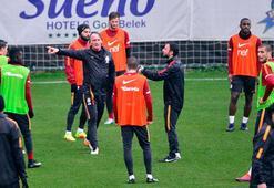 Galatasaray, yağmur altında çalıştı