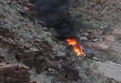 ABDyi sarsan haber Büyük Kanyonda helikopter düştü: 3 ölü, 4 yaralı