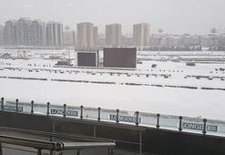 At yarışlarına kar engeli
