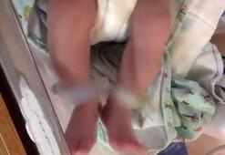 Bağımlı annenin bebeğinin şok eden görüntüleri