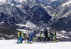 Olimpiyat pistinde kayak keyfi