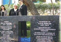 Kaya Tuncer anısına ESBAŞ'a anıt kaya