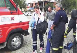 Ambulans sürücüsü eğitimde kaza yaptı