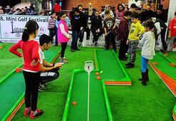 1200 çocuk mini golfle tanıştı