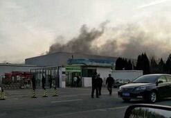 Samsung fabrikasında yangın