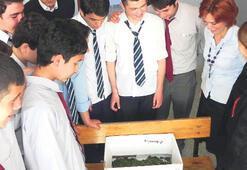 Okullar ipekböceği derslerine başladı