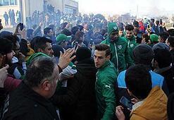 Bursasporlu taraftarlar Sevgililer Günü'nde Özlüce'ye akın etti