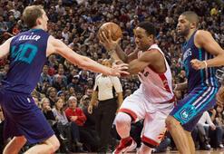 NBAde Toronto Raptors, Charlotte Hornetsi mağlup etti