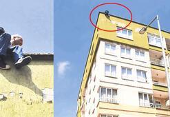 50 bin TL borcu olan esnaf çatıya çıktı