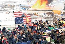 Kuzey Dakota'da göstericilere gözaltı